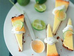 Cheesecake s limetkami