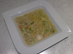Polévka z rybích filetů