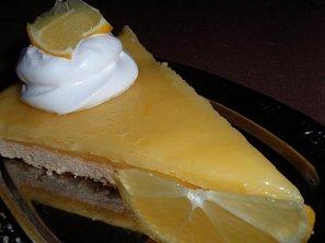 Citronový nebo pomerančový koláč (řez) - křehký a pikantní
