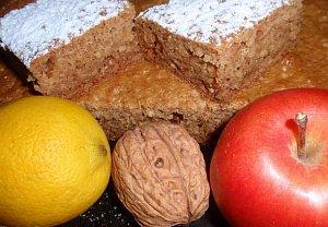 (nejen) Jablkovo - vločkový koláč