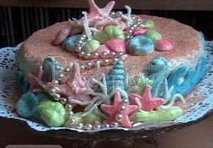 Mořský dort z marcipánu