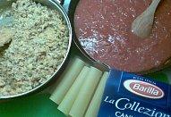 Zapečené cannelloni z trouby v pikantní omáčce