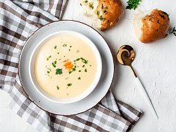 Jemná sýrová polévka