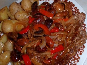 Přírodní plátky se zeleninou a fazolemi