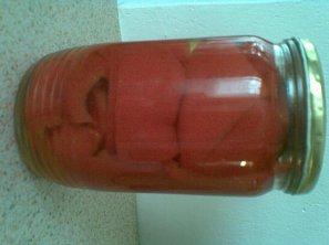Sterilovaná paprika v nálevu s olejem