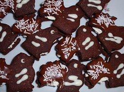 Kakaovo-ořechoví ptáčci s krémem, bez vajec