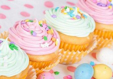 Vanilkové velikonoční cupcakes