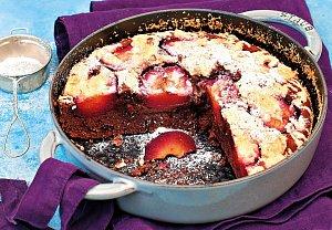 Čokoládový koláč s blumami