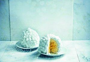 Sněhové dortíky z hrníčků
