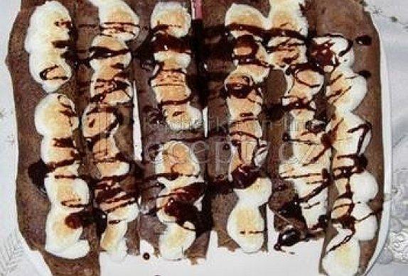 Zapečené kakaové palačinky