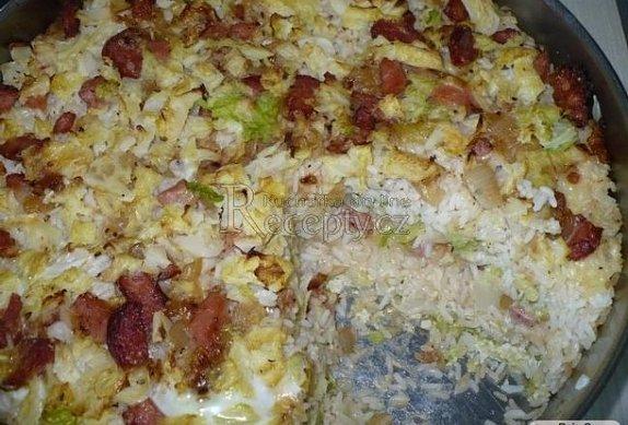 Zapékaná kapusta s rýží
