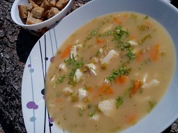 Rybí polévka z tresky