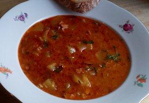 Gulášová polévka z patizonu