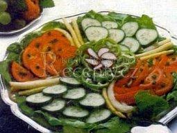 Zeleninový salát s francouzskou zálivkou