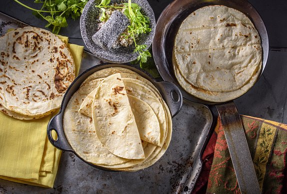 Zapečená tortilla s kuřecím masem