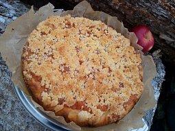 Kynutý koláč s jablečnou náplní