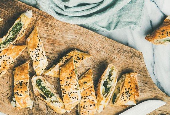 Slaný závin se špenátem a sýrem feta