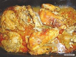 Pikantní pečené kuře