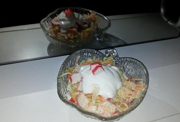 Ledový krabí salát s jogurtem