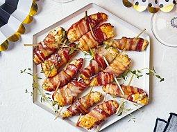 Pečené jalapeňo se sýrem a slaninou