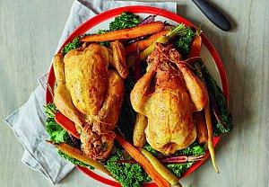 Baby kuřátka s nádivkou a zeleninou