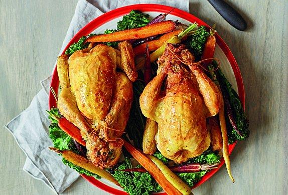 Baby kuřátka s nádivkou a zeleninou photo-0