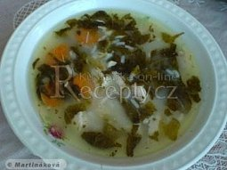 Kuřecí polévka s citronem a rýží