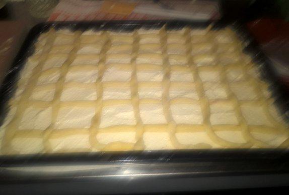Tvarohový mřížkový koláč III.