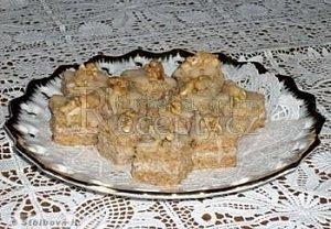 Ořechové řezy ledové - cukroví