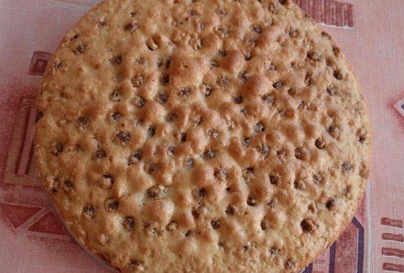 Jablečný či hruškový dort (řez) s tvarohovým krémem