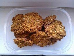 Sušenky z ovesných vloček s kokosem