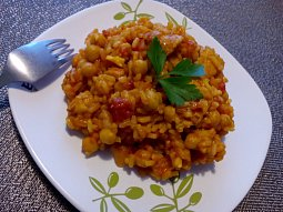 Kuřecí (nejen) s rajčaty a rýží