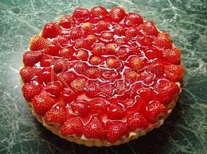 Ovocný koláč se želatinou