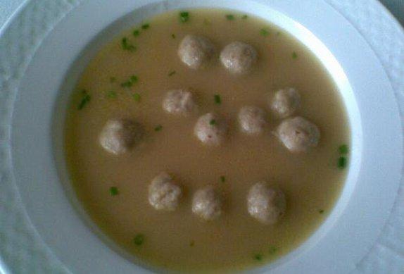 Polévka játrová (nebo ze sleziny)