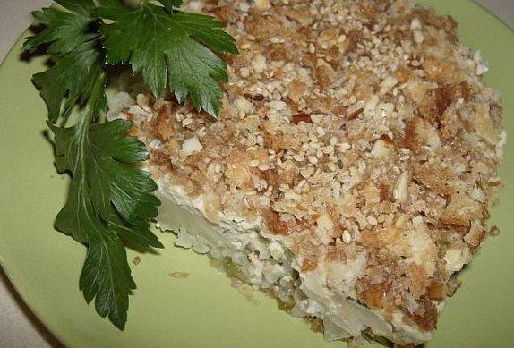 Květákové řezy s tvarohem a ořechy