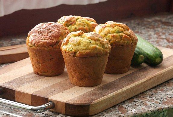Bramborové muffiny se slaninou