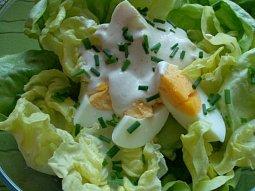 Hlávkový salát s vejci II.