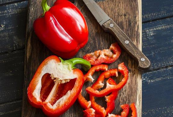 Fazole v rajské omáčce s paprikou