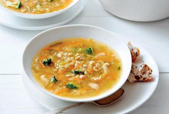 Kuřecí polévka s kroupami photo-0