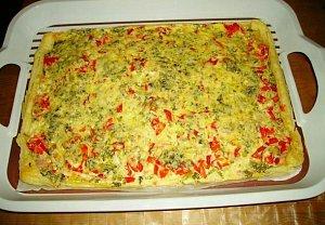 Brokolicový koláč z listového těsta