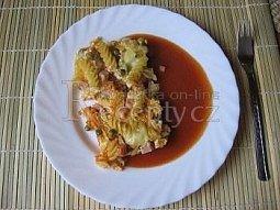 Zapékané těstoviny s rajskou omáčkou
