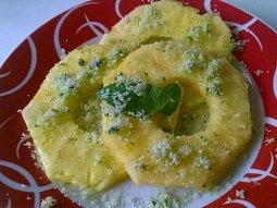 Ananas s mátovým cukrem podle J. Olivera