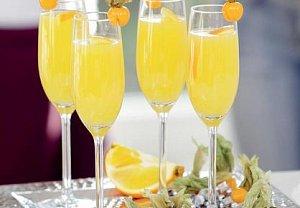 Pomerančový koktejl se sektem