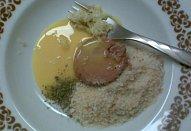 Polévka s rychlými játrovými nočky (knedlíčky)