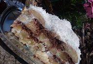 Kokosový nepečený dort