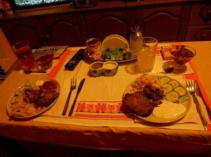 Vepřový steak s hranolkami