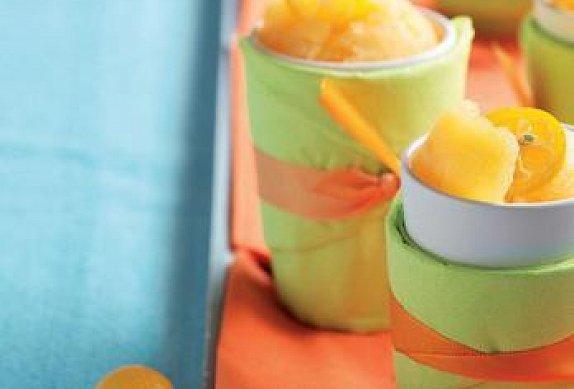 Mandarinkový sorbet