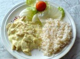Kuřecí prsíčka na kari s česnekem