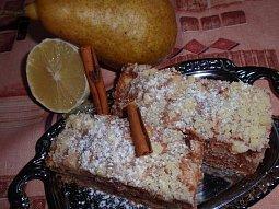 Citronovo-hruškový koláč