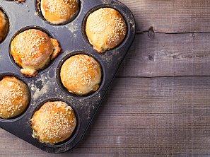 Moje sýrovo-šunkové muffiny